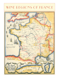 Map of French Wine Country Posters