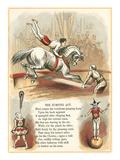 Circus Visit, Jumping Act Poster