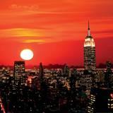 Nueva York, Silueta de Midtwon Arte