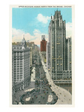 Upper Michigan Avenue, Downtown Chicago Prints
