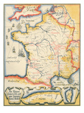 Map of French Wine Country Prints