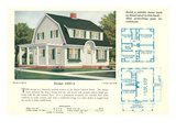Single-Family Home, Rendering and Floor Plans Posters