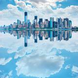 Lower Manhattan Skyline with Reflections Posters