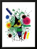 The Singing Fish Print by Joan Miró