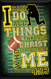 I Can Do All Things (Football) Plaque Wood Sign