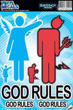 God Rules Vinyl Decal Wall Decal