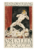 Poster for Orestes Production, Zurich Posters