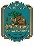 Sewing Machine Ad with Beaver Prints