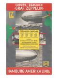 Travel Poster for Transatlantic Zeppelin Crossing Prints