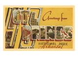 Greetings from Hot Springs, Arkansas Prints