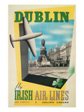 Dublin Air Lines Travel Poster Poster