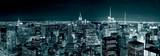 New York City - Manhattan - Skyline at Night Poster
