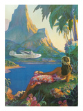 Clipper over Tahiti Print