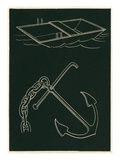 Rowboat and Anchor Prints