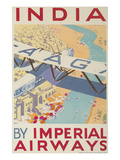 India by Imperial Airways Posters