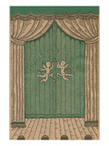 Stage Curtain with Cupids Posters