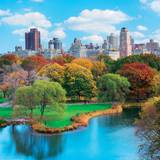 New York City Manhattan Central Park - Panorama in Autumn Posters
