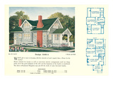 Single-Family Home, Rendering and Floor Plans Poster
