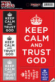 Keep Calm And Trust God Vinyl Decal Decalques de parede