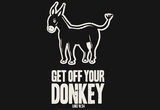 Get Off Your Donkey Laptop Skin Sticker Laptop Stickers
