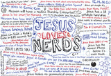 Jesus Loves Nerds Laptop Skin Sticker Laptop Stickers