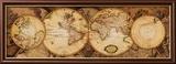 Wereldkaarten: Nova Totius Terrarum Orbis, rond 1600 Poster