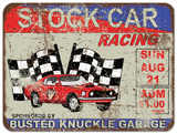 Stock Car Racing Tin Sign