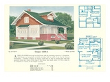 Single-Family Home, Rendering and Floor Plans Prints