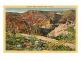Painted Cliffs, Apache Trail, Arizona Poster