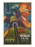 Colorful Chicago Worlds Fair Poster Poster