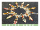 Women on Paddleboards, Sana Cruz Posters