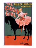 The Circus Girl, Trick Rider and Horse Print