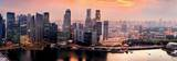 Panorama of Singapore from Marina Bay Sand Resort at Sunset Posters