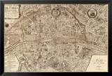 Plan de la Ville de Paris, 1715 Prints by Nicolas De Fer