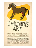 WPA Children's Art Project Poster Print