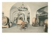 Fancy Wine Cellar and Tasting Room Print