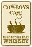 Cowboy Café Tin Sign