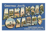 Greetings from the Arkansas Ozarks Giclée-Premiumdruck