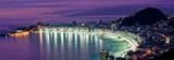 Rio de Janeiro, nattlig vy av Copacabana Affischer