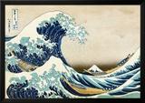 De grote golf van Kanagawa, uit de reeks: 36 uitzichten op de berg Fuji, ca.1829 Posters van Katsushika Hokusai