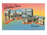 Greetings from Savin Rock, Connecticut Poster