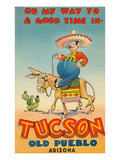 On My Way to Tucson, Arizona Poster
