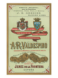 A. R. Valdespino Sherry Label Posters