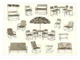 Lots of Outdoor Furniture Prints