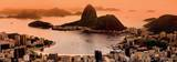 Rio de Janeiro Suggar Loaf and Botafogo Beach Viewed from Corcovado at Sunset Prints