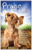 Praise the Lord - Puppy Praise Plaque Wood Sign