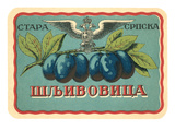 Label for Russian Grape Product Poster