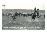 Cowboy Calf-Roping, Montana Prints