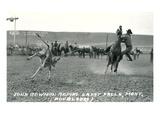 Cowboy Calf-Roping, Montana Prints