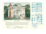 Single-Family Home, Rendering and Floor Plans Print